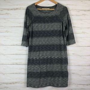 MAX STUDIO Shirt Dress Blue & Grey Pockets M